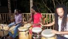 Drummers in studio